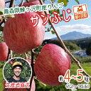 【ふるさと納税】[青森県産りんご]青森県鰺ヶ沢町 西樹園のサンふじ約4〜5kg(12〜18玉) 【果物類・林檎・りんご・リンゴ】 お届け:2020年11月10日〜2021年1月10日