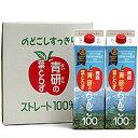 【ふるさと納税】青森県 鰺ヶ沢町 青研 りんごジュース 10...