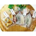 【ふるさと納税】鰺ヶ沢の生干しイカ、炭火焼きイカセット