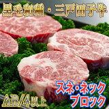【ふるさと納税】黒毛和牛A4・B4等級以上「三戸田子牛」【スネ・ネックブロック380g】