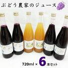 ぶどう農家のジュースセット(720ml)6本