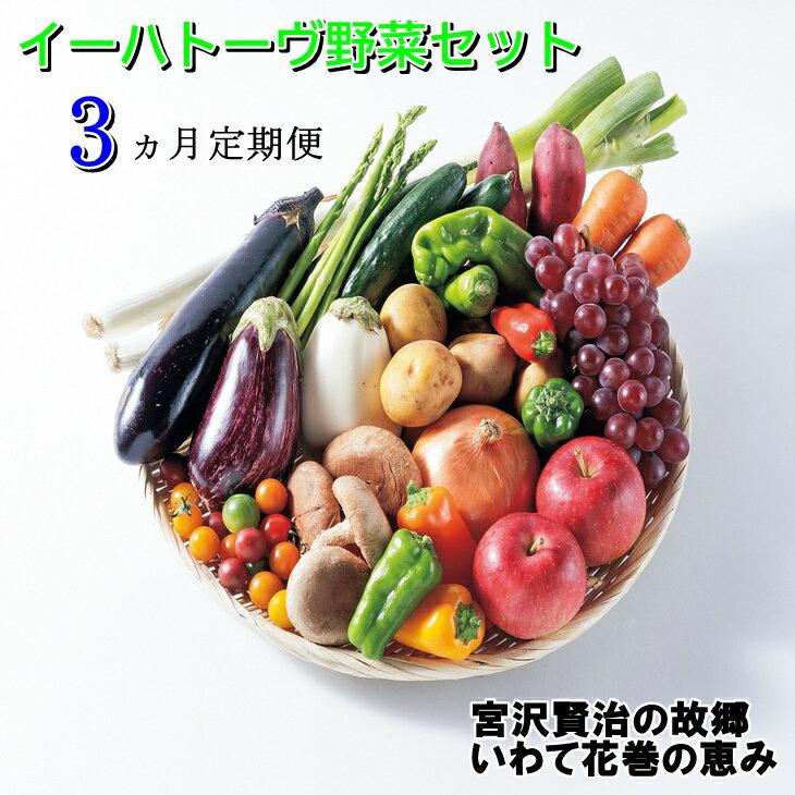 《定期便3ヶ月コース》イーハトーヴ野菜セット お楽しみ 詰め合わせ 3回