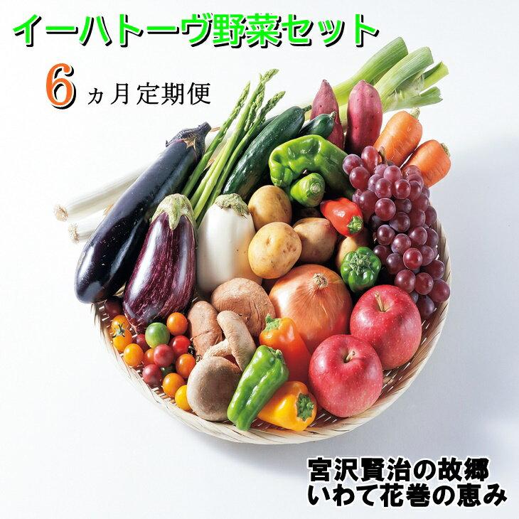 [定期便6ヶ月]イーハトーヴ野菜セット お楽しみ 詰め合わせ 6回(7〜10品) 旬 野菜 冷蔵[予約受付2021年10月より発送開始]