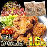 【ふるさと納税】訳あり 唐揚げ レンジ 規格外 奥州 いわいどり 室根 鶏モモ 1.6kg(800g×2袋) からあげ 冷凍 から揚げ 一関