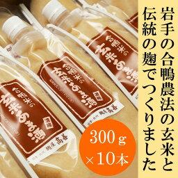 【ふるさと納税】合鴨米の玄米あま酒 (濃縮タイプ)300gX10本[AD04]