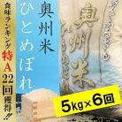 【ふるさと納税】☆全6回お届け頒布☆平成29年産奥州米ひとめぼれ5kg