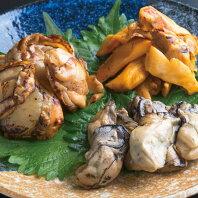 【ふるさと納税】<常温保存>海鮮燻り3種セット(牡蠣・ほや・ホタテ)