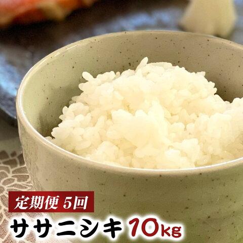 【ふるさと納税】<新米・予約>【定期便】いしのまき産米ササニシキ10kg(精米)×5回