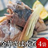 【ふるさと納税】常温保存・金華さば水煮(100g×4袋)
