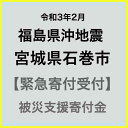 【ふるさと納税】【令和3年2月 福島県沖地震被害寄付受付】宮城県石巻市災害応援寄付金(返礼品はありません)