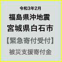 【ふるさと納税】【令和3年2月 福島県沖地震被害寄付受付】宮城県白石市災害応援寄附金(返礼品はありません)