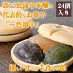 【ふるさと納税】銘菓「三色最中」小豆・白・抹茶餡24個入