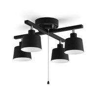 【ふるさと納税】4灯シーリングライト クロス形 CE4LA-20C-B 【電化製品】