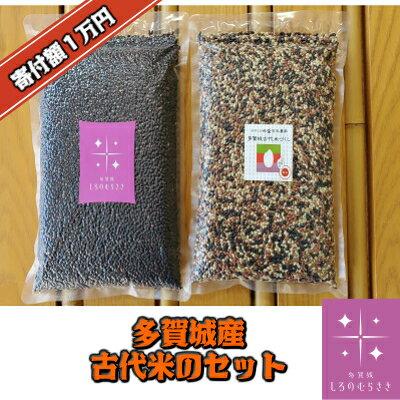 【ふるさと納税】多賀城産古代米のセット