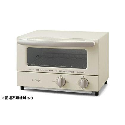 ricopaオーブントースター EOT-R021-WC ホワイトアイボリー 【キッチン用品・調理家電・オーブントースター・トースター・タイマー設定可能】