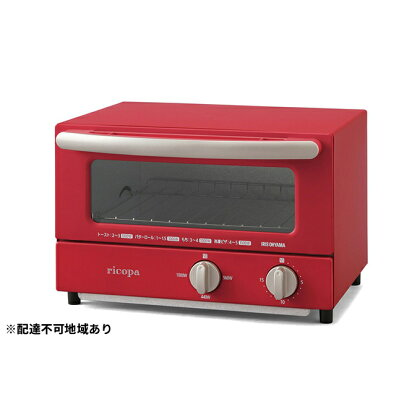 ricopaオーブントースター EOT-R021-R レッド 【キッチン用品・調理家電・オーブントースター・トースター・タイマー設定可能】