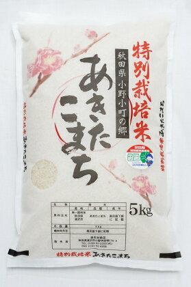 小野小町の郷特別栽培米あきたこまち5kg
