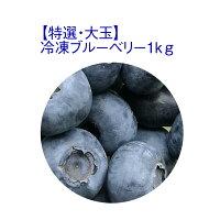 【ふるさと納税】【特選・大玉】冷凍ブルーベリー1kg