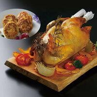 【ふるさと納税】比内地鶏ローストチキン&ハンバーグF