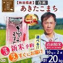 【ふるさと納税】 新米 秋田県産 あきたこまち 20kg(1