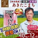 【ふるさと納税】 《定期便12ヶ月》 【白米】 秋田県産 あきたこまち 10kg
