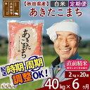 【ふるさと納税】 【白米】 《定期便6ヶ月》 秋田県産あきたこまち40kg(2kg×20袋)×6回 おすそわけ 小分け 一等米 農産物検査員がいるお店 6か月 6ヵ月 6カ月 6ケ月 お米
