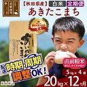 【ふるさと納税】 《定期便12ヶ月》 【白米】 秋田県産 合川地区限定 あきたこまち 20kg(5kg×4袋)×12回 あいかわこまち 農家直送 12か月 12ヵ月 12カ月 12ケ月