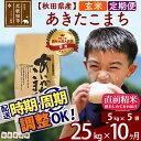 【ふるさと納税】 《定期便10ヶ月》 【玄米】 秋田県産 合川地区限定 あきたこまち 25kg(5kg×5袋)×10回 あいかわこまち 農家直送 10か月 10ヵ月 10カ月 10ケ月