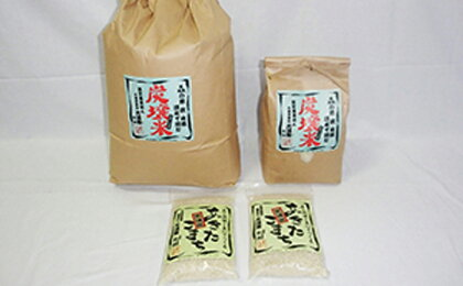 あきたこまち炭壌米 10kg+2kg+(300gx2個)