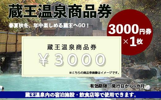 蔵王温泉商品券(3000×1枚)