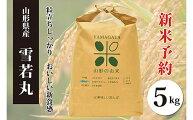 【ふるさと納税】FY20-497【令和2年産新米先行予約】雪若丸白米(5kg)