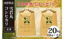 【ふるさと納税】FY20-087[令和2年産]雪若丸・コシヒ