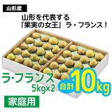 【ふるさと納税】FY20-178 【家庭用】山形市産 ラ・フランス 10kg (24~48玉)