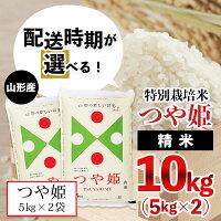 【ふるさと納税】FY20-637【配送時期が選べる】[令和3年産]山形産特別栽培米つや姫10kg(5kg×2)米精米