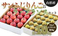 【ふるさと納税】FY21-178サンふじりんご(5kg)&ラ・フランス(5kg)セット