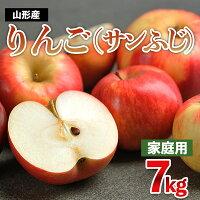 【ふるさと納税】FY21-301【家庭用】サンふじりんご7kg