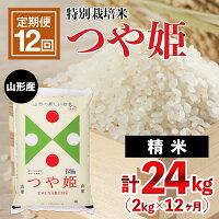 【ふるさと納税】FY21-331【定期便12回】山形産特別栽培米つや姫2kg×12ヶ月(計24kg)