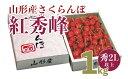 【ふるさと納税】FS20-122 さくらんぼ紅秀峰 秀品 2L以上1kg入り1箱