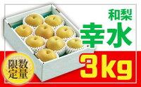 【ふるさと納税】FY18-820 ♪フルーツ王国山形♪和梨(幸水)秀品3kg