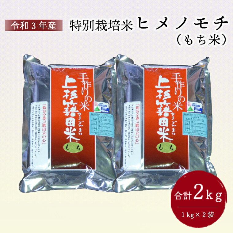 【ふるさと納税】【先行予約 令和3年産】特別栽培米 もち米(ヒメノモチ)1kg×2袋 計2kg 2021年産