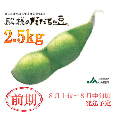 【ふるさと納税】A51-421 殿様のだだちゃ豆2.5kg(前期)