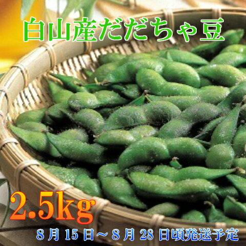 【ふるさと納税】A51-424 鶴岡特産 白山産だだちゃ豆(白山)(2.5kg)