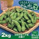 ふるさと納税山形県鶴岡市産くろうえもんさんだだちゃ豆2kg
