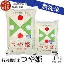 【ふるさと納税】令和2年産 無洗米 つや姫 7kg 山形県庄内産 特別栽培米