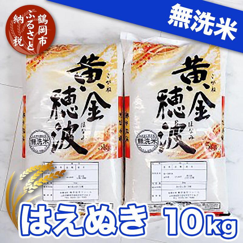 [令和2年産]はえぬき無洗米10kg(5kg×2袋)家計応援米 黄金穂波