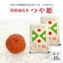 【ふるさと納税】新米 特別栽培米 つや姫 10kg 精米 令