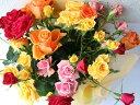 【ふるさと納税】バラ園からお届けする「バラの花束」彩り20本...