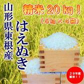 【ふるさと納税】A-164 29年産(30年1月送付分)_東根産米「はえぬき精米」5kg×4