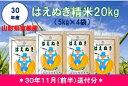 【ふるさと納税】A-325 30年産はえぬき精米20kg(30年11月...