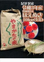 【ふるさと納税】令和3年産「特別栽培米はえぬき」玄米30kg[新米、お米、送料無料]《511P》※2021年11月上旬頃〜2022年3月下旬頃より順次発送予定※着日指定不可
